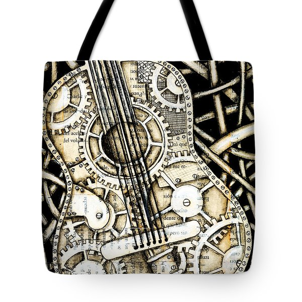 Tangle Guitar Tote Bag by Delein Padilla