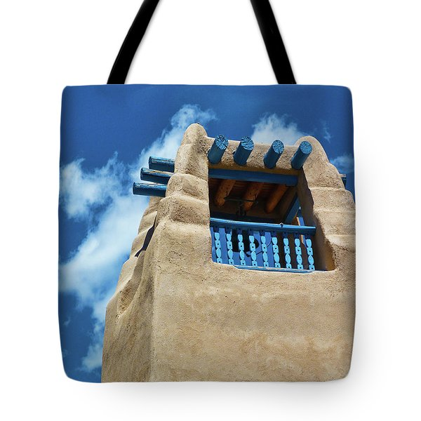 Taos Blue Tote Bag