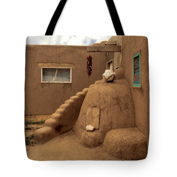 Taos Pueblo Tote Bag by Jerry McElroy
