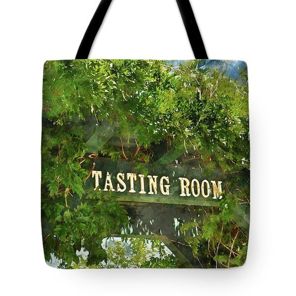 Tasting Room Sign Tote Bag