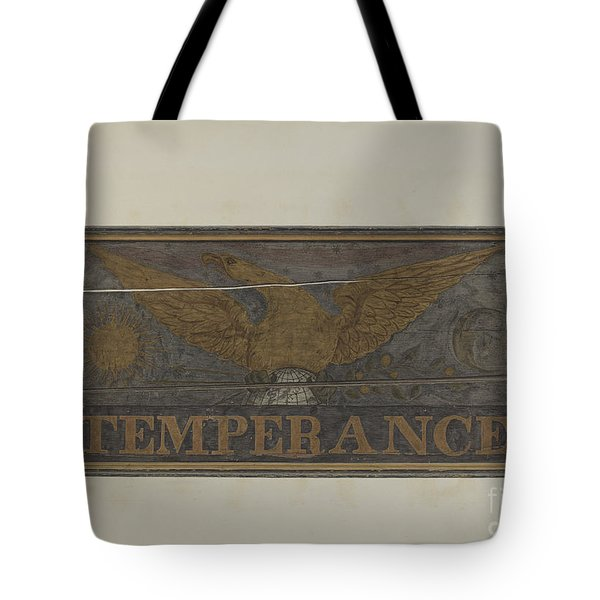 "Tavern Sign: ""temperance"" Tote Bag"
