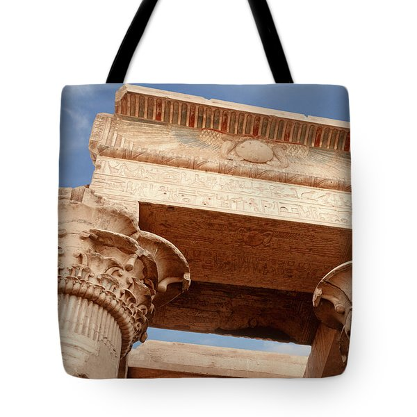 Tote Bag featuring the photograph Temple Of Kom Ombo by Silvia Bruno