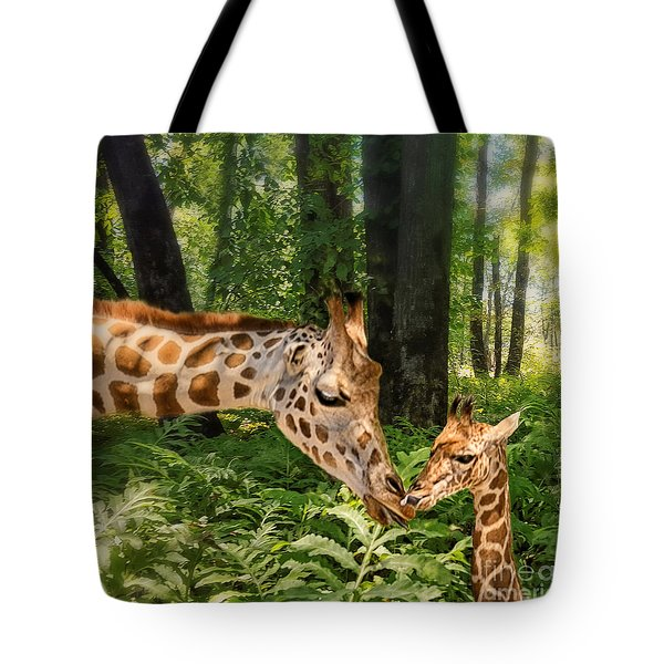 Tender Are The Moments Where Love Embraces Time Tote Bag by Mary Lou Chmura