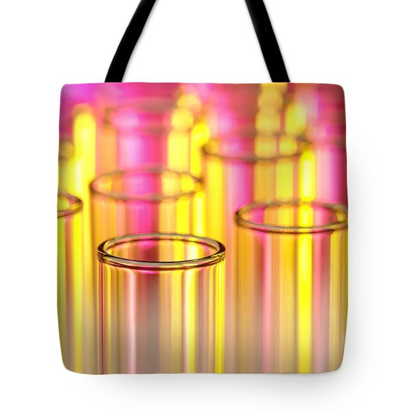 Test Tubes In Science Lab Tote Bag