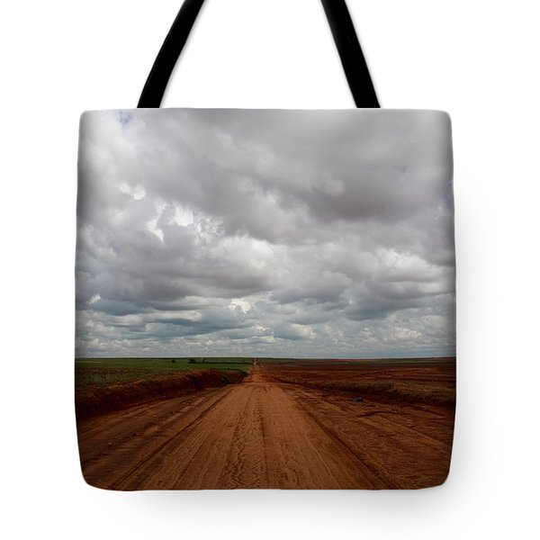 Texas Red Road Tote Bag
