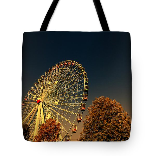 Texas Star Ferris Wheel Tote Bag by Douglas Barnard