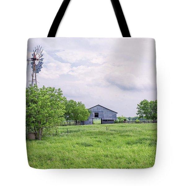 Texas Windmill Tote Bag