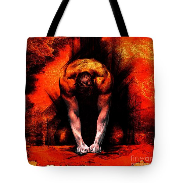 Textured Anger Tote Bag