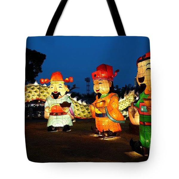 The 2017 Lantern Festival In Taiwan Tote Bag