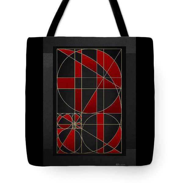 The Alchemy - Divine Proportions - Red On Black Tote Bag