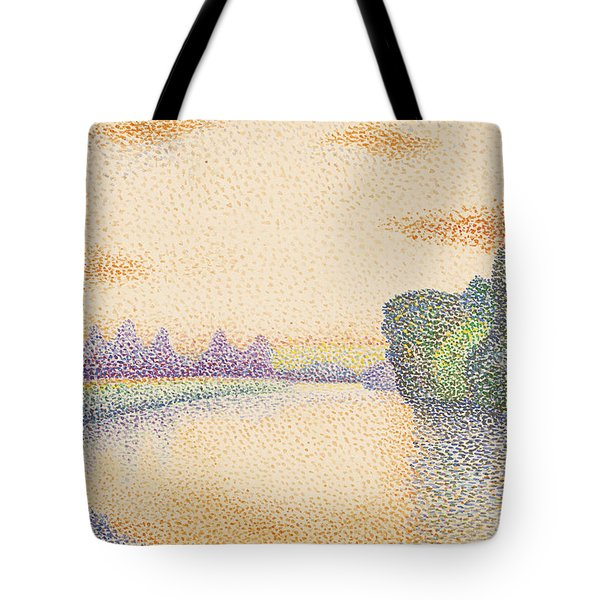 The Banks Of The Marne At Dawn Tote Bag