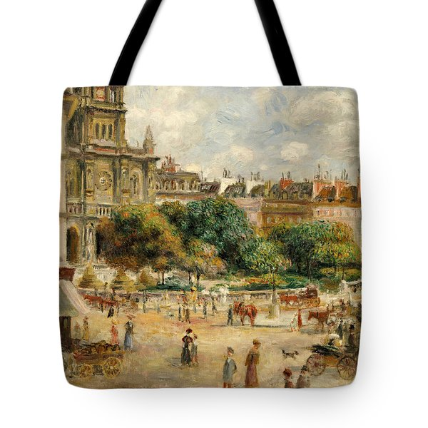 The Banks Of The Seine At Bougival Tote Bag by Pierre Auguste Renoir