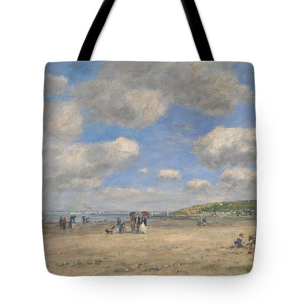 The Beach At Tourgeville Les Sablons Tote Bag