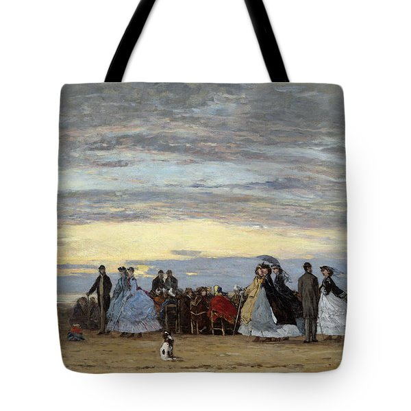 The Beach At Villerville Tote Bag
