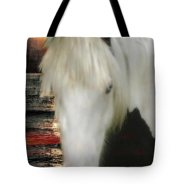 The Beautiful Face Of A Gypsy Vanner Horse Tote Bag