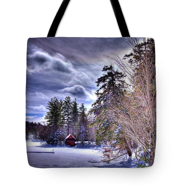 Tote Bag featuring the photograph The Beaver Brook Boathouse by David Patterson