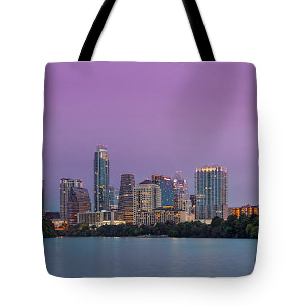 The Boardwalk Trail At Lady Bird Lake - City Of Austin Skyline - Texas Hill Country Tote Bag