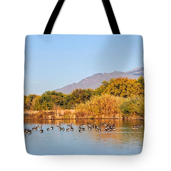 Tote Bag featuring the photograph The Bosque by Gina Savage