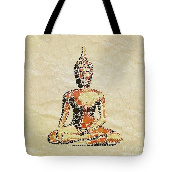 The Buddha, Pop Art By Mary Bassett Tote Bag