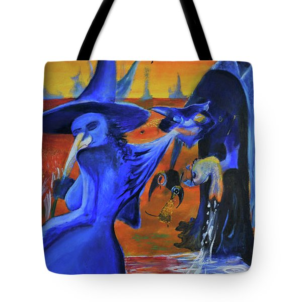 The Cat And The Witch Tote Bag