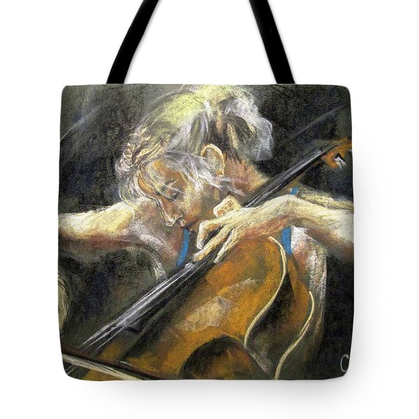 The Cellist Tote Bag by Debora Cardaci