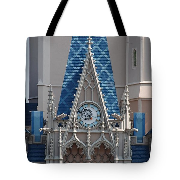The Clock And The Castle Tote Bag