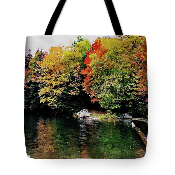 Tote Bag featuring the photograph The Colors Of Lake Raponda - Wilmington, Vermont by Joseph Hendrix