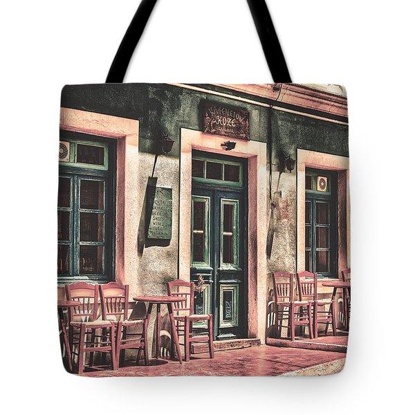The Corner Cafe Tote Bag
