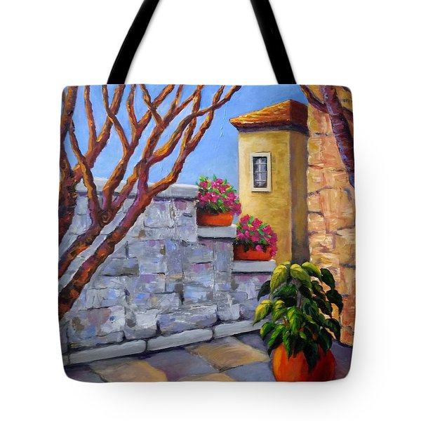 The Courtyard Tote Bag