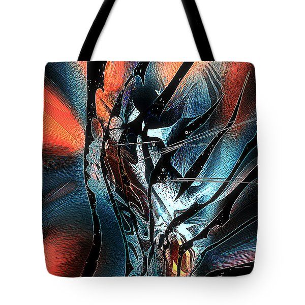 Tote Bag featuring the digital art The Oracle by Yul Olaivar