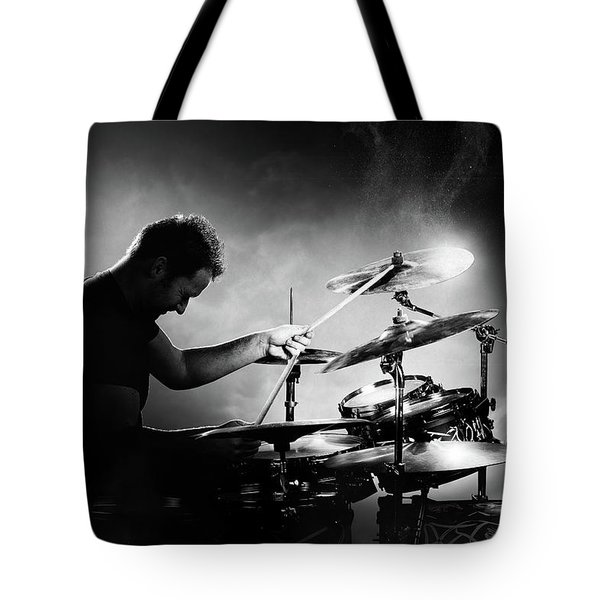 The Drummer Tote Bag by Johan Swanepoel