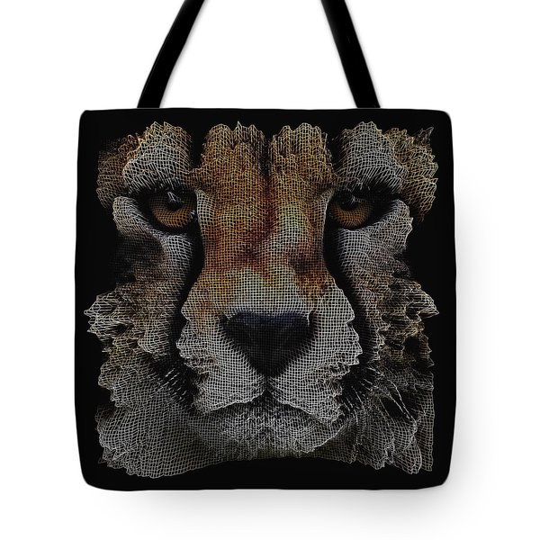 The Face Of A Cheetah Tote Bag