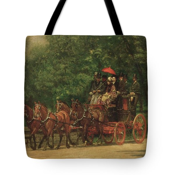 The Fairman Rogers Coach And Four Tote Bag by Thomas Cowperthwait Eakins