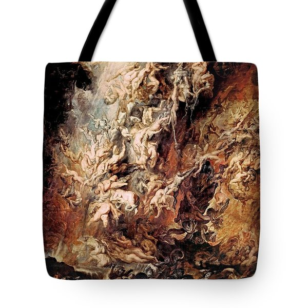 Tote Bag featuring the painting The Fall Of The Damned by Peter Paul Rubens