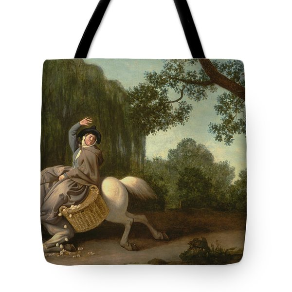 The Farmer's Wife And The Raven Tote Bag