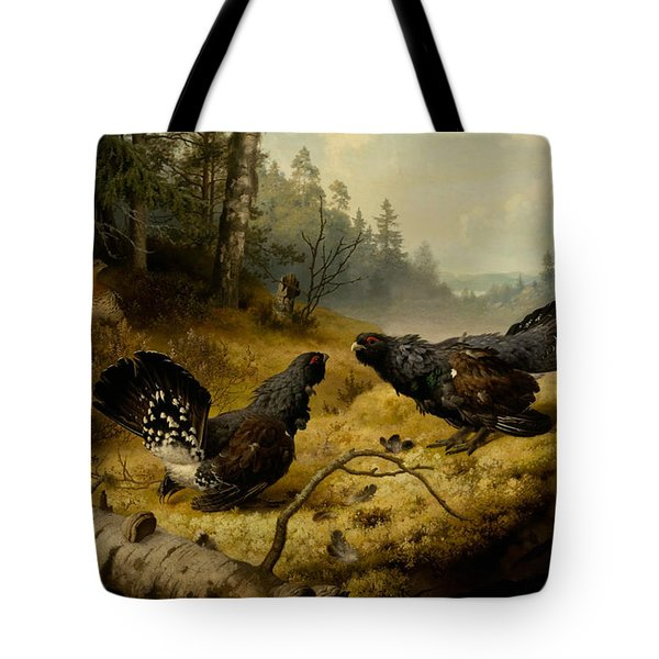 The Fighting Capercaillies Tote Bag