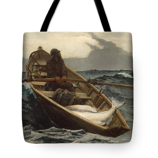 Tote Bag featuring the painting The Fog Warning - 1885 by Winslow Homer