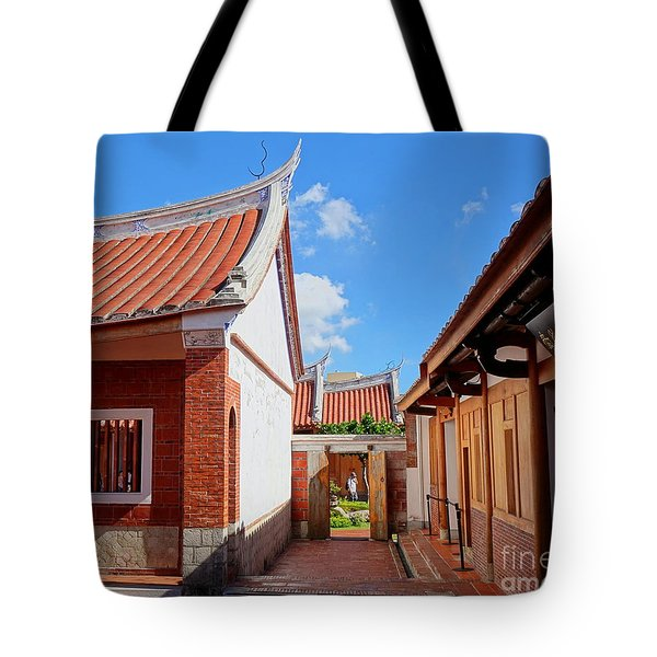 Tote Bag featuring the photograph The Fongyi Imperial Academy In Taiwan by Yali Shi