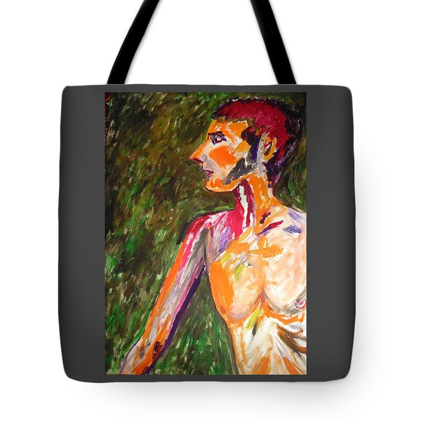 Tote Bag featuring the painting Benjamin Beseiged by Esther Newman-Cohen