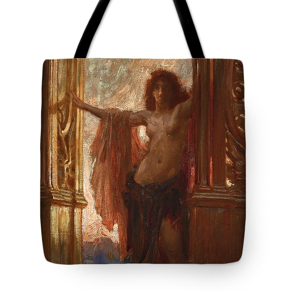The Gates Of Dawn Tote Bag by Herbert James Draper