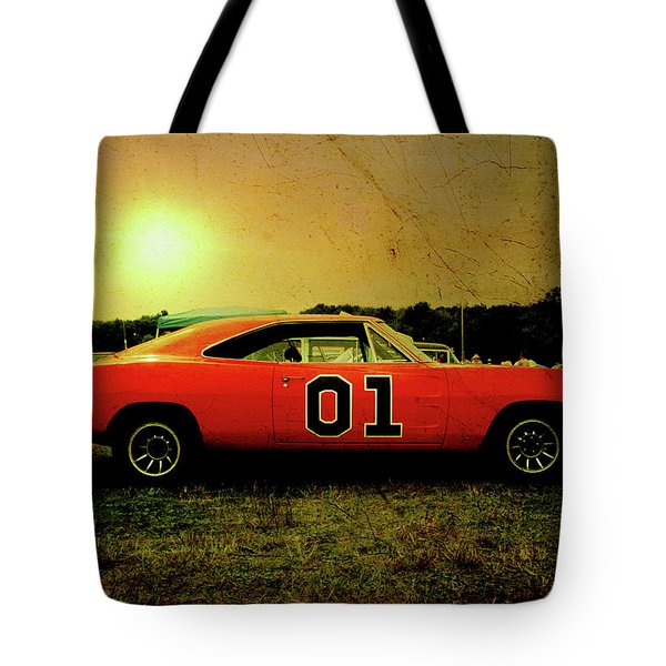 Tote Bag featuring the photograph The General Lee by Joel Witmeyer
