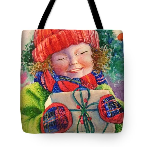 Tote Bag featuring the painting The Gift by Eleatta Diver