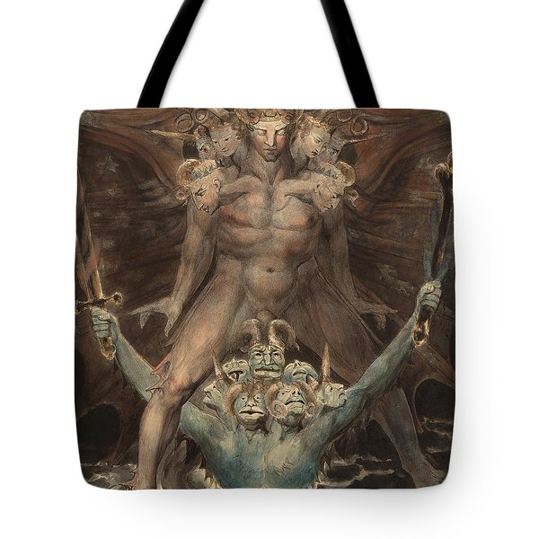 The Great Red Dragon And The Beast From The Sea Tote Bag