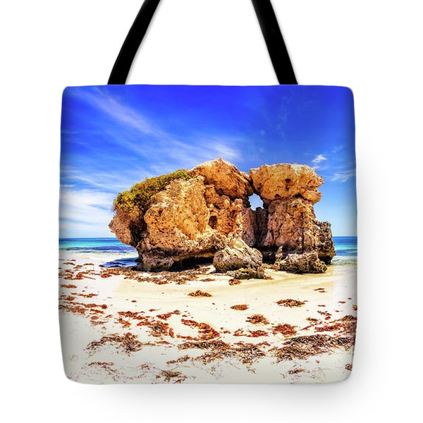 Tote Bag featuring the photograph The Sentry, Two Rocks by Dave Catley