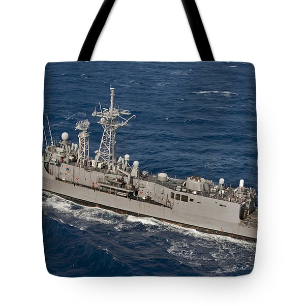 The Guided-missile Frigate Uss Reuben Tote Bag by Stocktrek Images