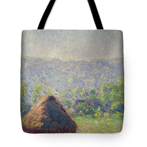 The Haystacks Tote Bag by Claude Monet