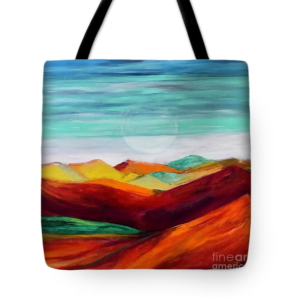 Tote Bag featuring the painting The Hills Are Alive by Kim Nelson