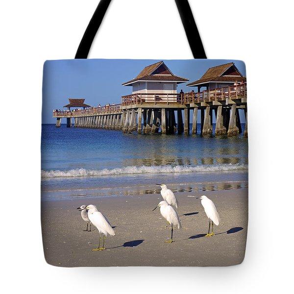 The Historic Naples Pier Tote Bag