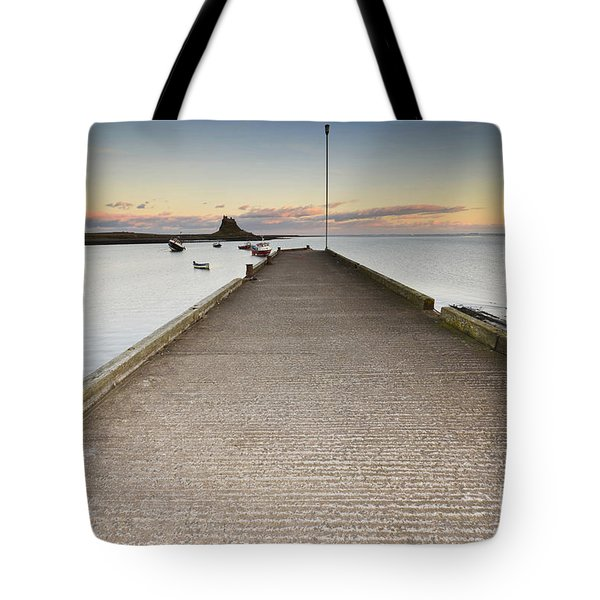 The Holy Island Of Lindisfarne Tote Bag