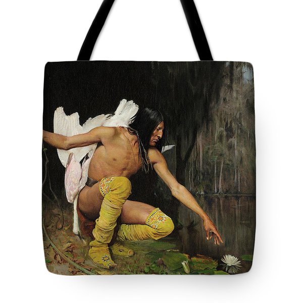 The Indian And The Lily Tote Bag